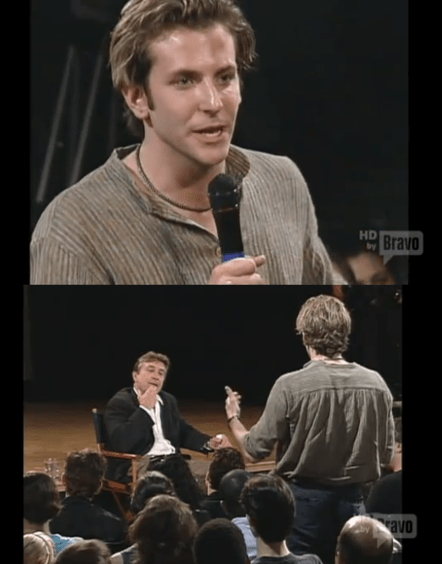 Bradley Cooper Asking Robert DeNiro Question