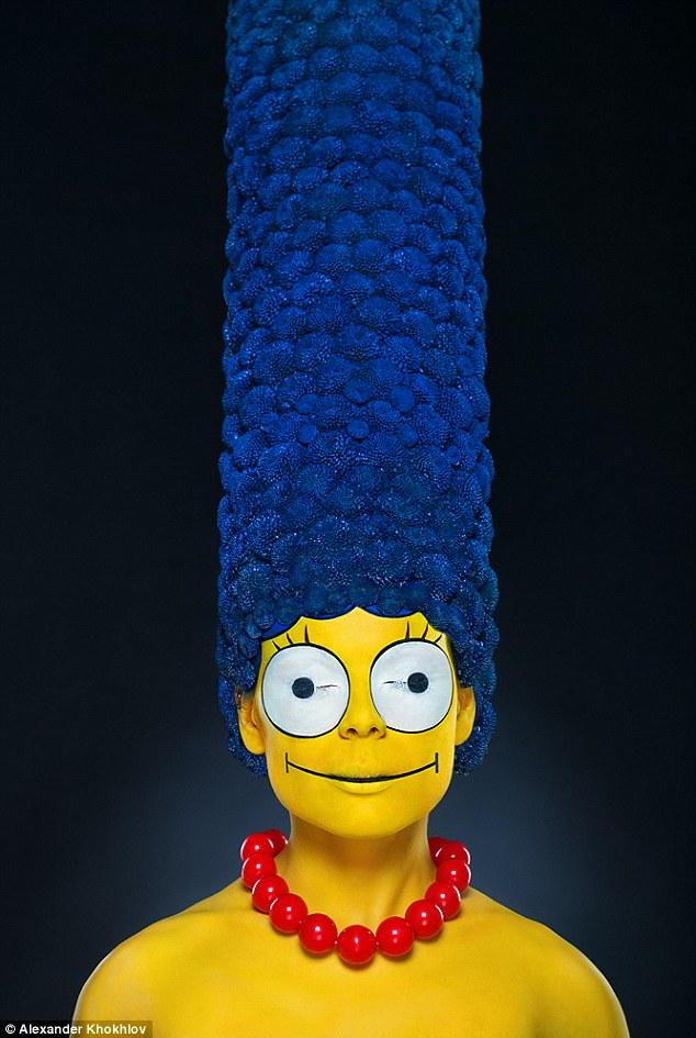 Flower Marge Simpson