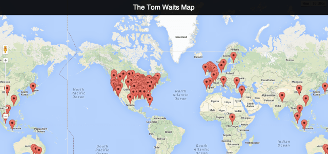 The Tom Waits Map