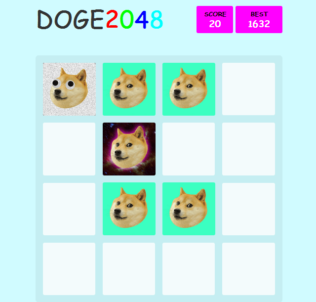 DOGE2048 Video Game