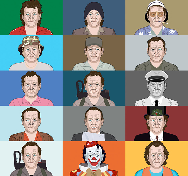The Many Faces of Bill Murray: