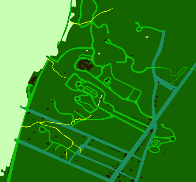Fort Washington Features Map