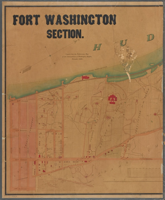 Fort Washington Original Map