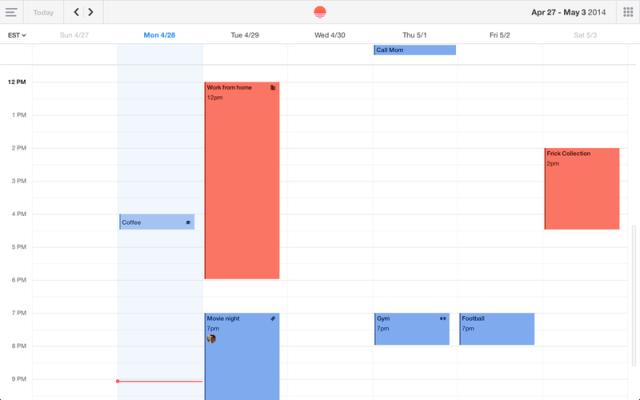 Sunrise Calendar on Desktop