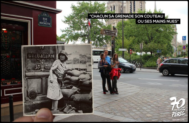 Then and Now Photos of the Liberation of Paris in World War II