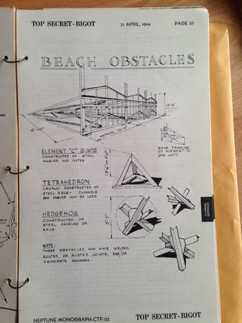 Photos of the Top Secret Plans for the D-Day Landings