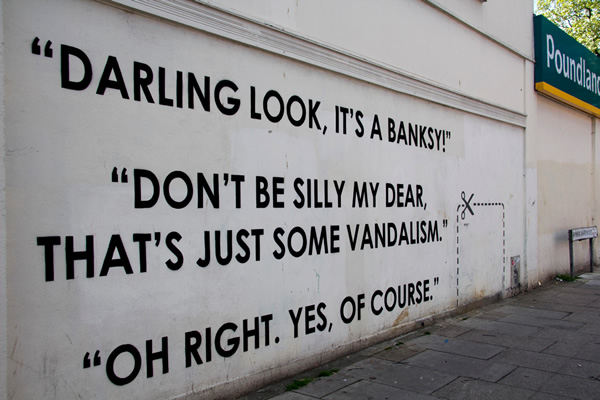 More Hand-Painted Pithy Messages by Street Artist Mobstr
