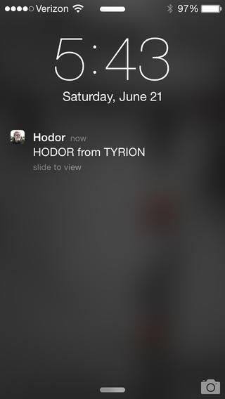 Yo, Hodor App