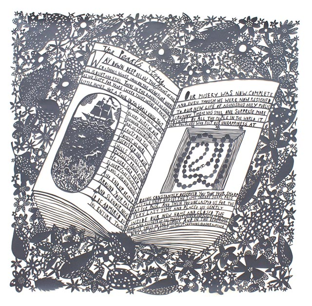 Astonishingly Intricate Cut Paper Illustrations by Rob Ryan