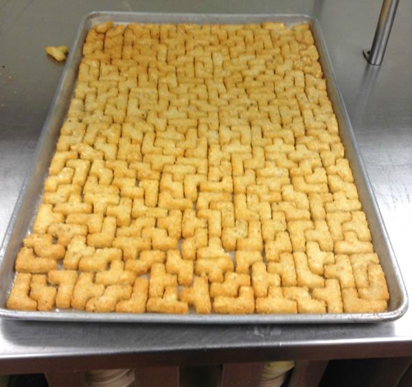 Puzzle Potatoes in Pan