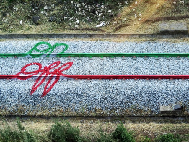 Clever Street Art on Railroad Tracks by Bordalo II