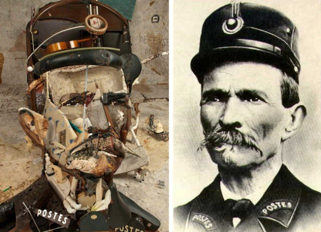 Anamorphic Portrait Installation of French Artist Ferdinand Cheval by Bernard Pras