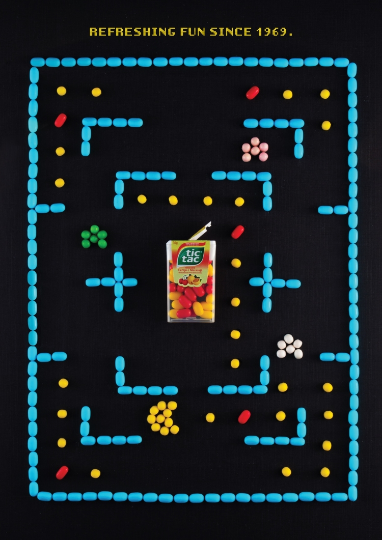 Tic Tac Pac-Man Ad