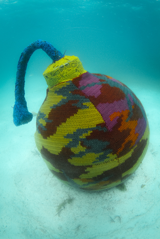 Underwater Crochet Installations off the Coast of Mexico by Olek