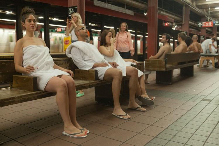 Subway Spa Improv Everywhere