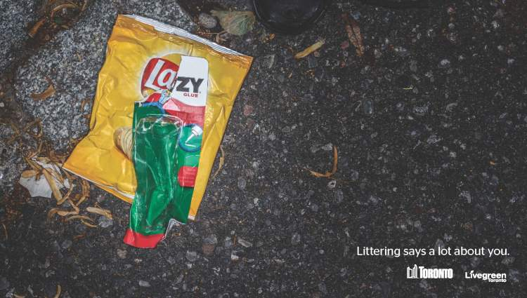 Littering Says a Lot About You Campaign