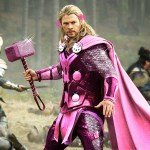 Photos of Marvel Superheroes With Pink Hello Kitty Makeovers