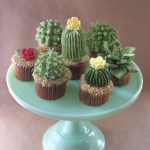Adorable Cupcakes Shaped Like Tiny Cacti and Succulents