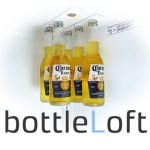 bottleLoft, Powerful Magnets That Hang Bottles From the Ceiling of a Refrigerator