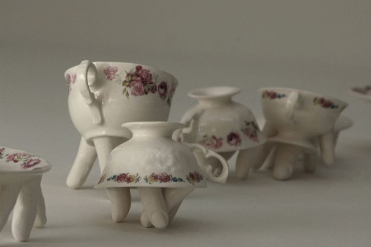 Creepy Dinnerware With Mouths and Fingers by Ronit Baranga