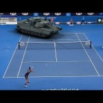 A Hilarious Short Video Featuring a Tennis Match Between Pro Player Novak Djokovic and an M1 Abrams Tank