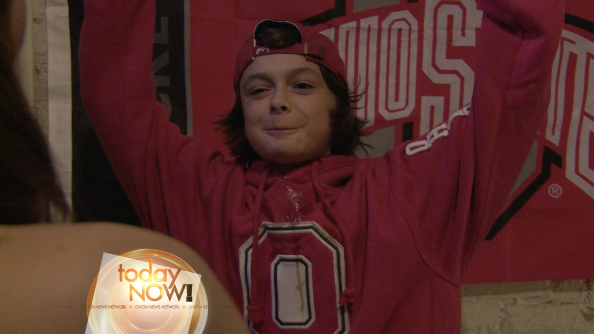 13-Year Old Drinking Prodigy Fits Right In With His Fellow Students at Ohio State University