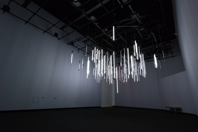 Geiger Counter Chandelier by Phillip David Stearns
