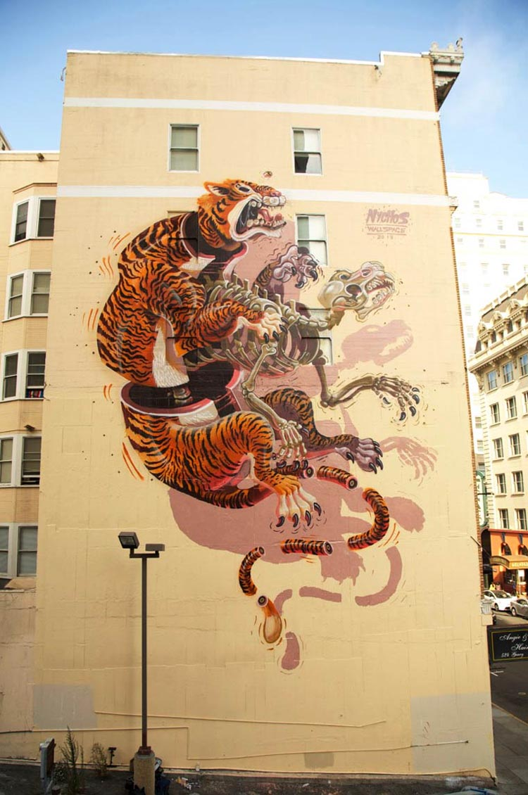 New Dissected Character Murals by Nychos