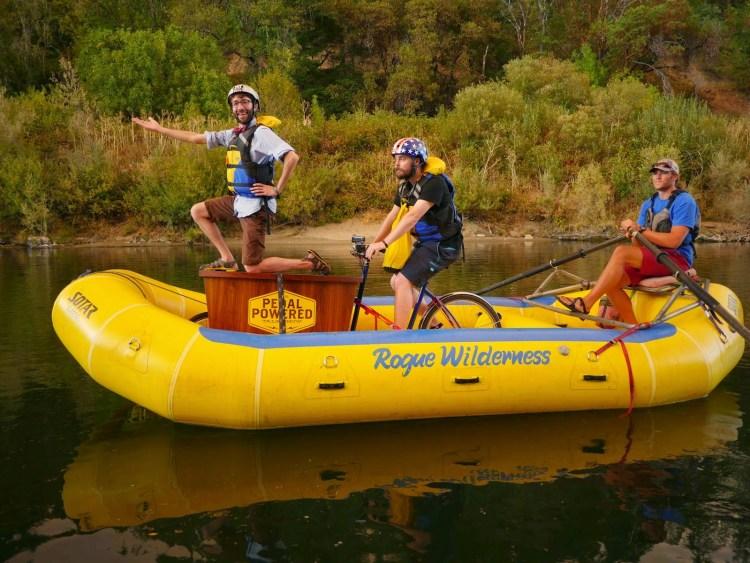 Bike on raft