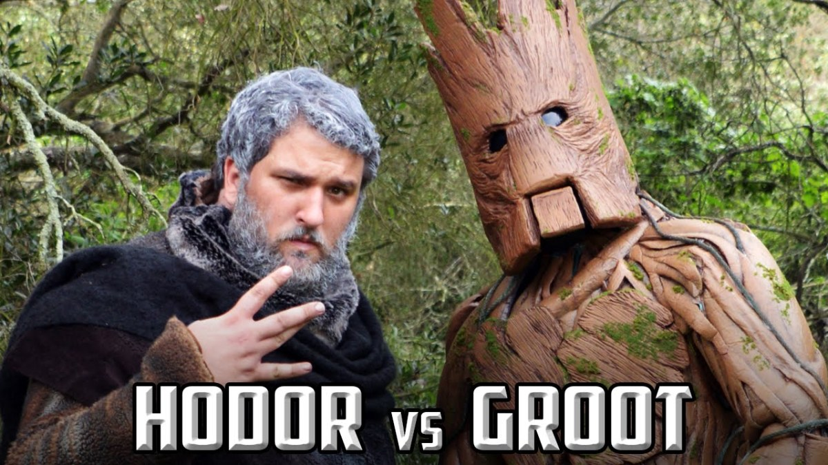 A Rap Battle Between Hodor of 'Game of Thrones' & Groot of 'Guardians of the Galaxy' That Consists of Very Few Words