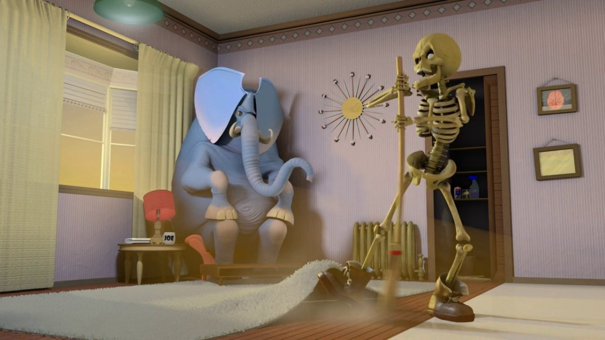 'Confessions of an Idiom', An Animated Short Film Featuring the Skeleton in the Closet and the Elephant in the Room