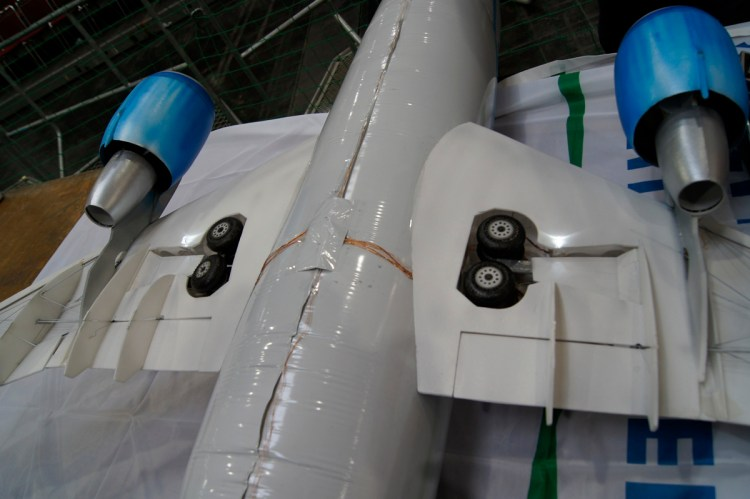 Airbus A310 Model Flying Inside