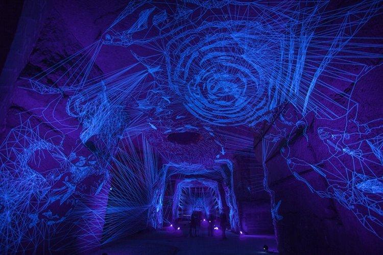 Breathtaking Glowing String Installations by Julien Salaud
