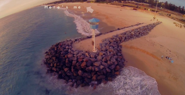 Photographer Catches His Camera Drone Moments Before It Crash Lands in the Ocean