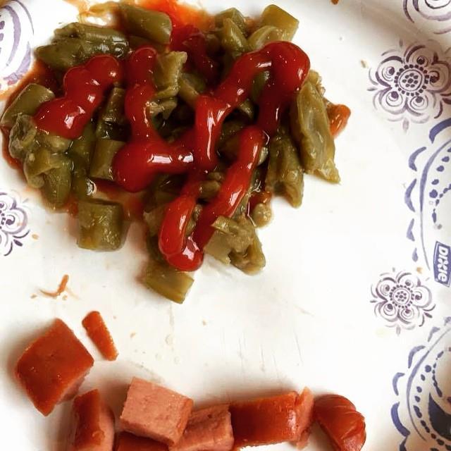 Green beans and ketchup