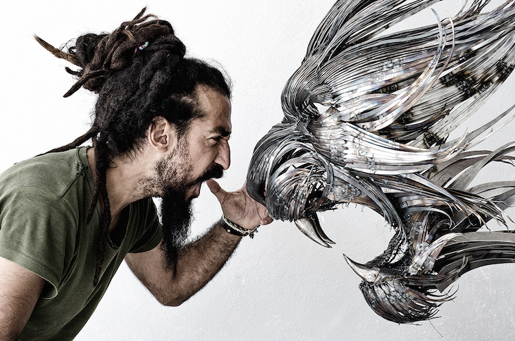 Tiger with Artist