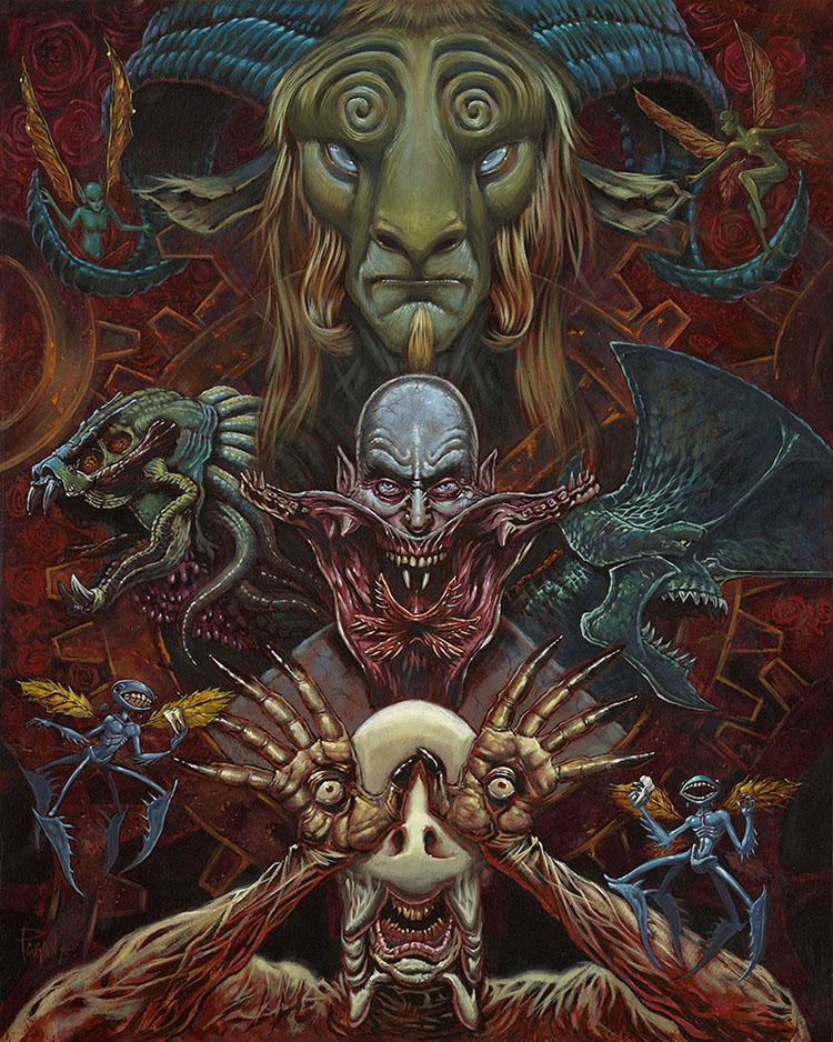 Los Monstruos de Del Toro by Augie Pagan