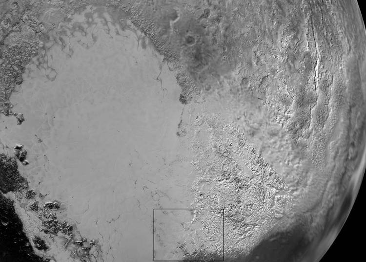 Pluto Sputnik Planum Close Up