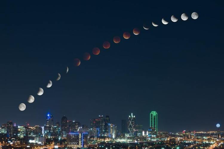 Super Blood Moon Timelapse Photo