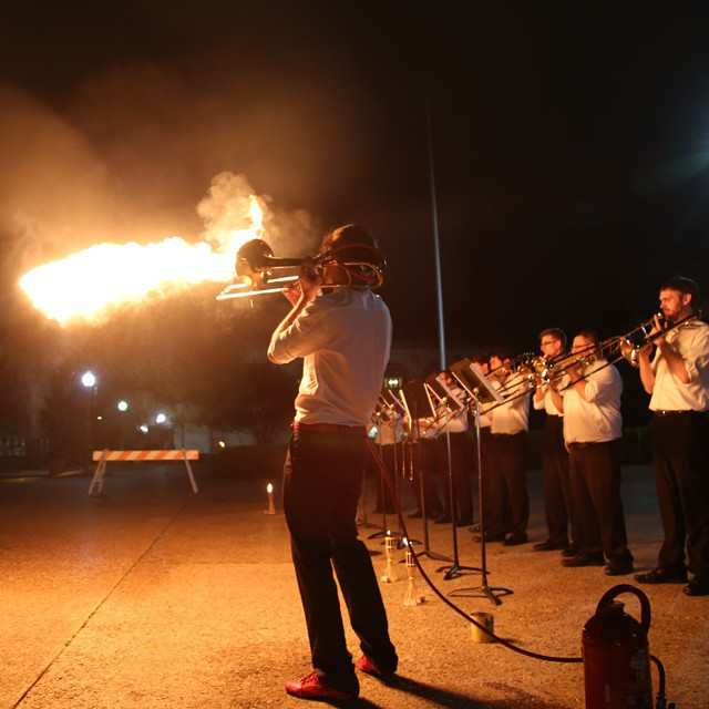 Valentin Guerin on the Pyro-Trombone 2