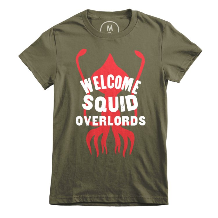 Welcome Squid Overlords Green