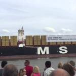 The Largest Container Ship in the World Playing the 'Star Wars' Theme Song on Its Horn