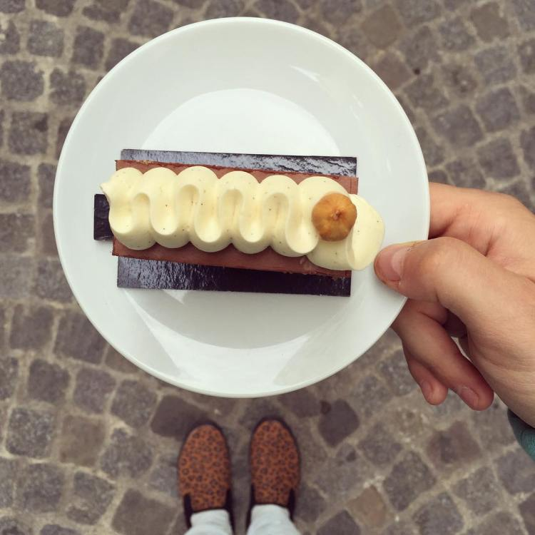 Chocolate and leopard shoes