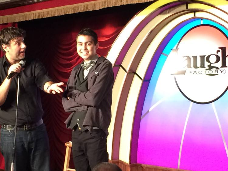 Josiah Onjero at the Laugh Factory
