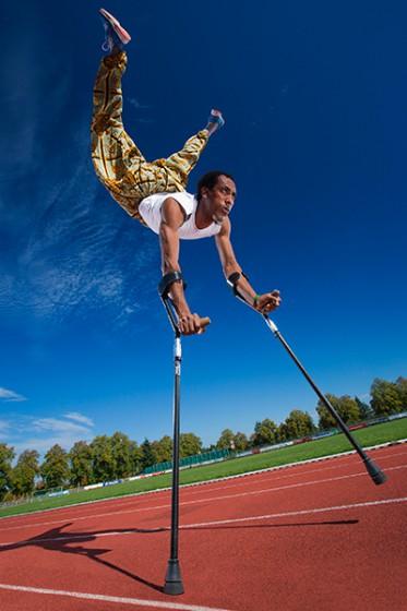 Fastest 100m on Forearm Crutches