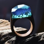 Stunning Wood and Resin Rings That Feature Miniature Dioramic Nature Scenes