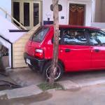 Man Comes Up With Clever Invention That Solves the Problem of Parking a Car in Very Tiny Garage