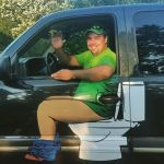 Local Ontario Plumber Makes a Big Splash With a Truck Decal That Shows Him Sitting on a Toilet