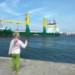 Little Girl Convinces Large Ship to Blow Its Loud Horn and Immediately Runs Away in Fear