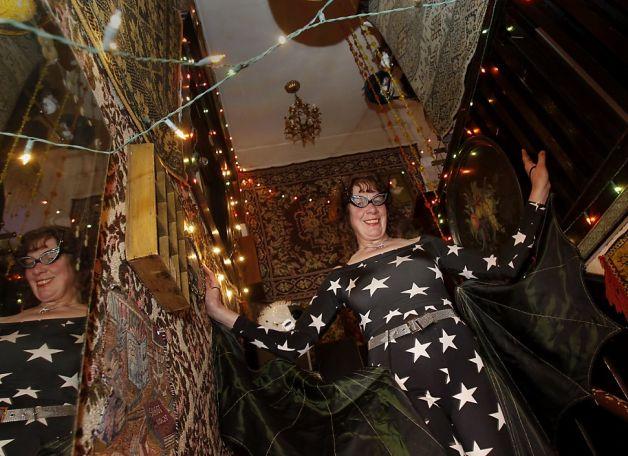 Louise in a bat costume